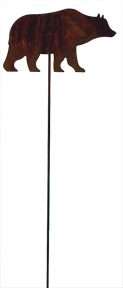 Bear - Rusted Garden Stake