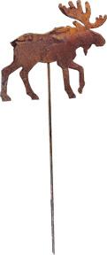 Moose - Rusted Garden Stake
