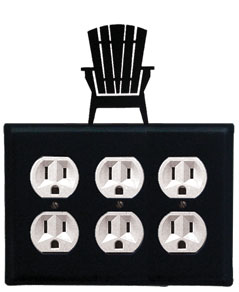 Adirondack - Triple Outlet Cover