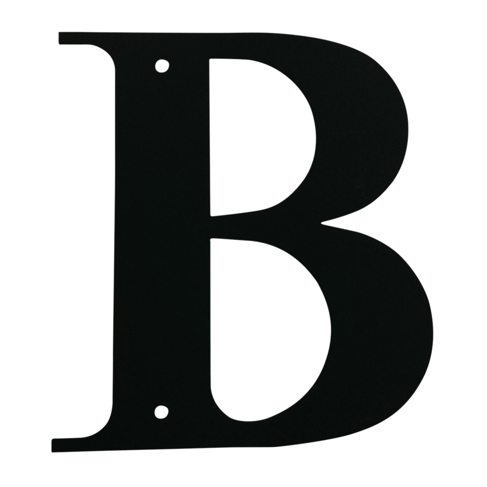 Village Wrought Iron: Letter B Medium