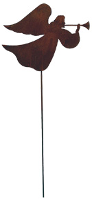 Angel - Rusted Garden Stake