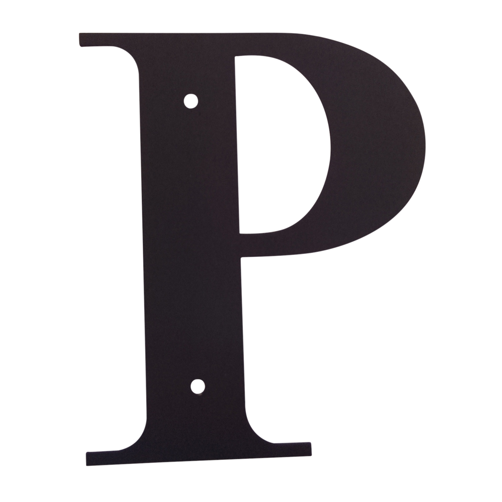 Village Wrought Iron Letter P Large