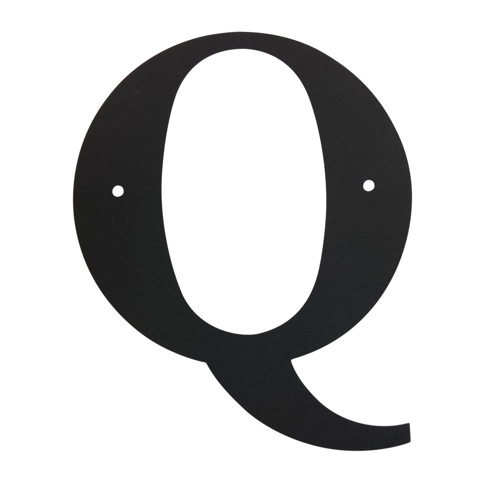Village Wrought Iron: Letter Q Large