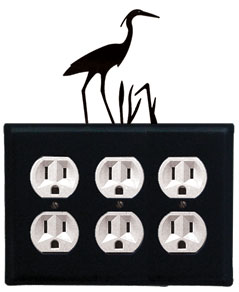 Heron - Triple Outlet Cover