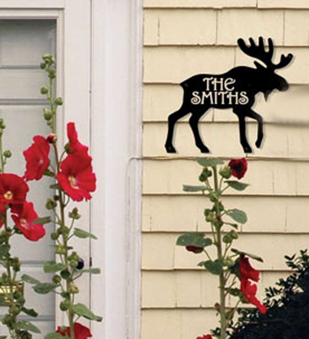 Moose - Product is Made When Ordered - Customized House Plaque