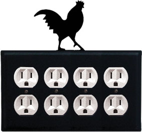 Rooster - Quad. Outlet Cover