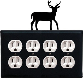Deer - Quad. Outlet Cover