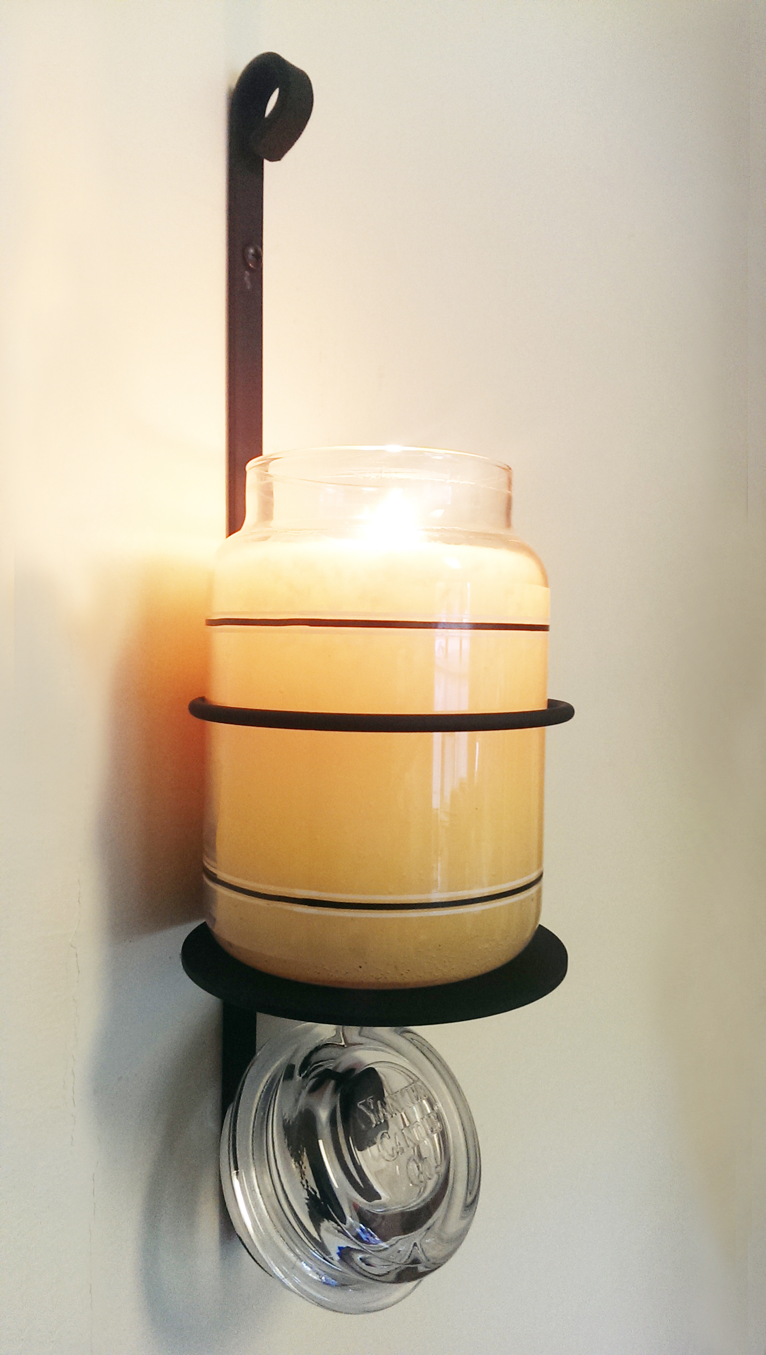 NO LONGER AVAILABLE - Candle Jar Sconce Holder