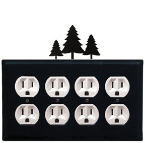 Pine Trees - Quad. Outlet Cover