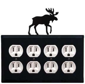 Moose - Quad. Outlet Cover