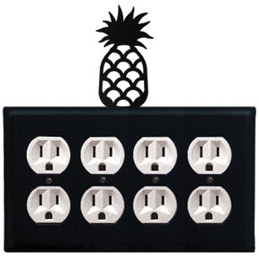 Pineapple - Quad. Outlet Cover