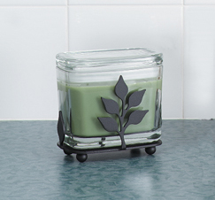 SALE 1 - Leaf Rectangular Candle Jar Holder