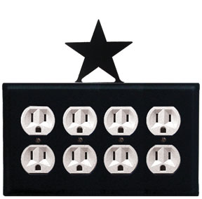 Star - Quad. Outlet Cover
