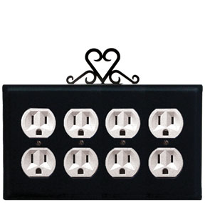 Heart - Quad. Outlet Cover