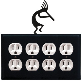 Kokopelli - Quad. Outlet Cover