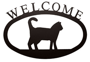 Cat - Welcome Sign  Large