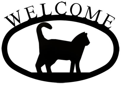 Cat - Welcome Sign Small