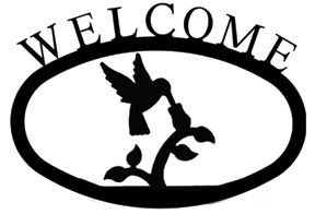 Hummingbird - Welcome Sign Small