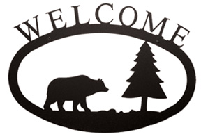 Bear & Pine - Welcome Sign Small