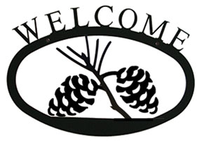 Pinecone Welcome Sign Sm