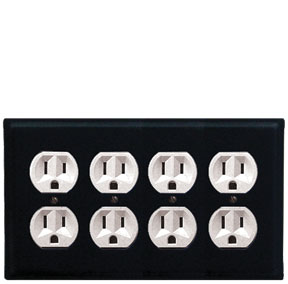 Plain - Quad. Outlet Cover