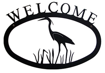 Heron - Welcome Sign Large