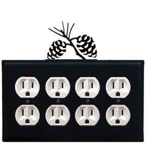 Pinecone - Quad. Outlet Cover