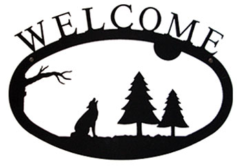Timber Wolf - Welcom Sign Large