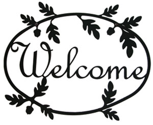 Acorn - Welcome Sign Medium