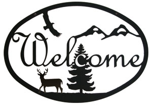 Deer - Welcome Sign Medium