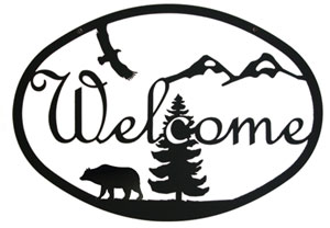 Bear - Welcome Sign Medium