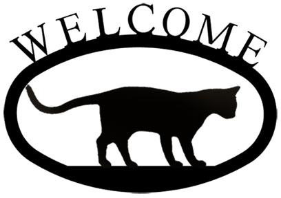 Cat at Play - Welcome Sign Small