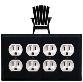 Adirondack - Quad. Outlet Cover