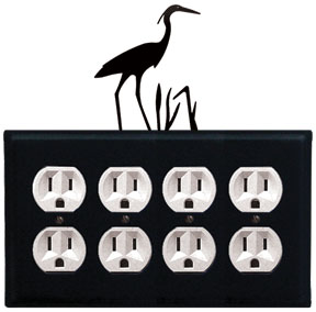 Heron - Quad. Outlet Cover
