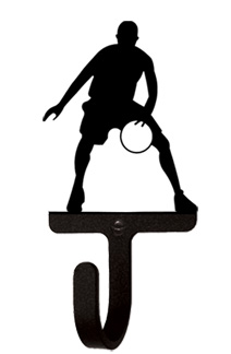 Basketball Player Men's / Boy's - Wall Hook Small