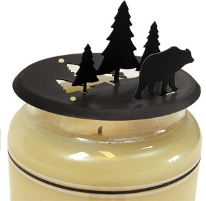 NO LONGER AVAILABLE - Bear & Pine - Candle Jar Topper