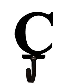 Letter C - Wall Hook Small