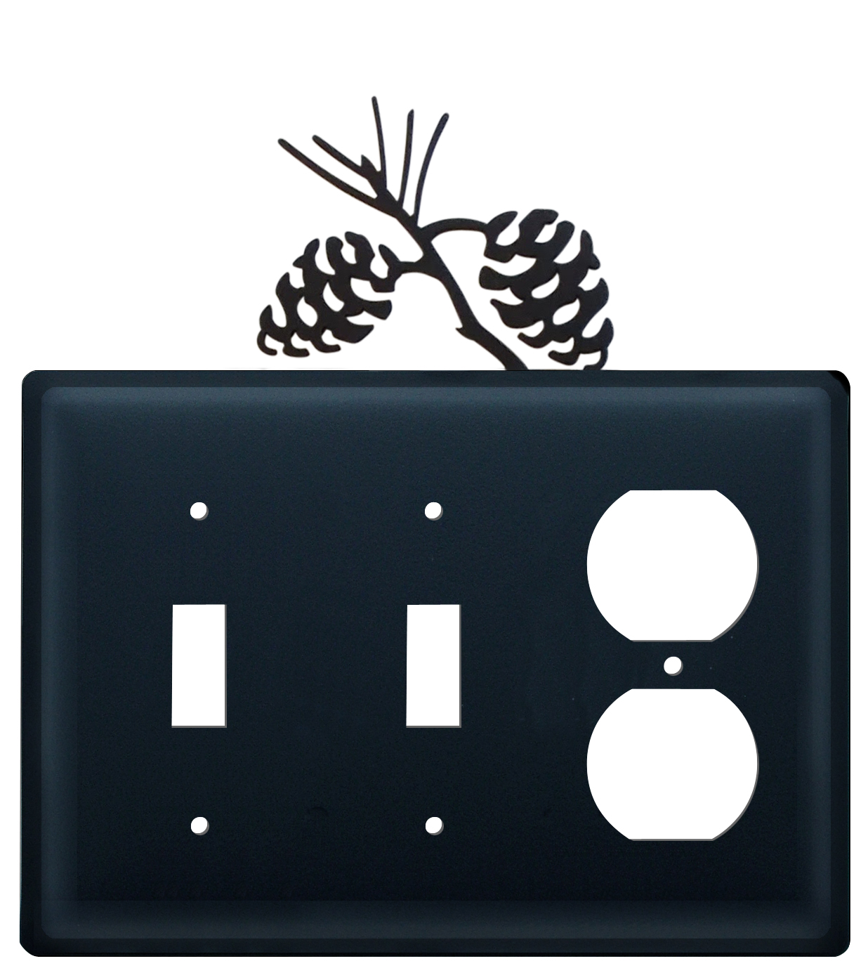 Pinecone- Double Switch & Single Outlet Cover