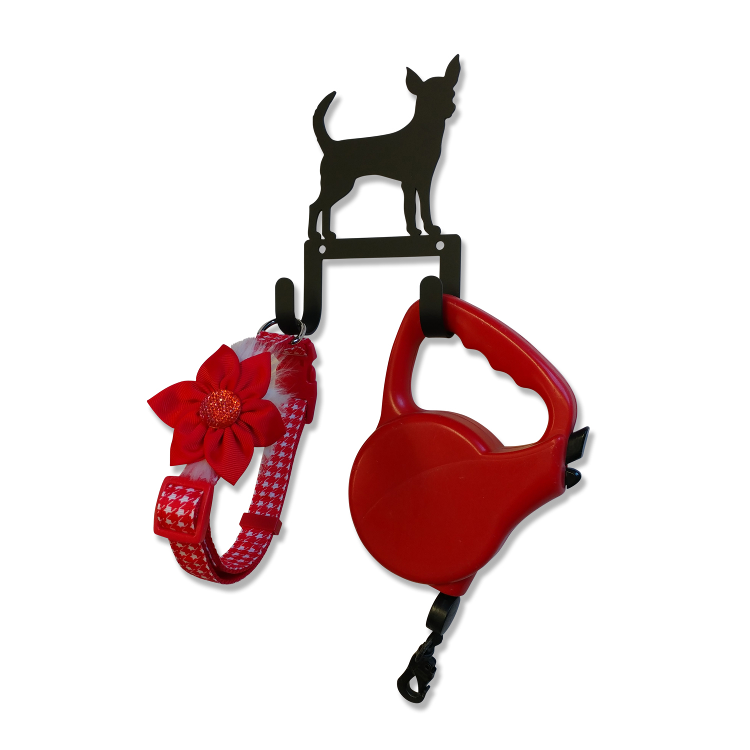 NEW - Chihuahua - Leash and Collar Wall Hook