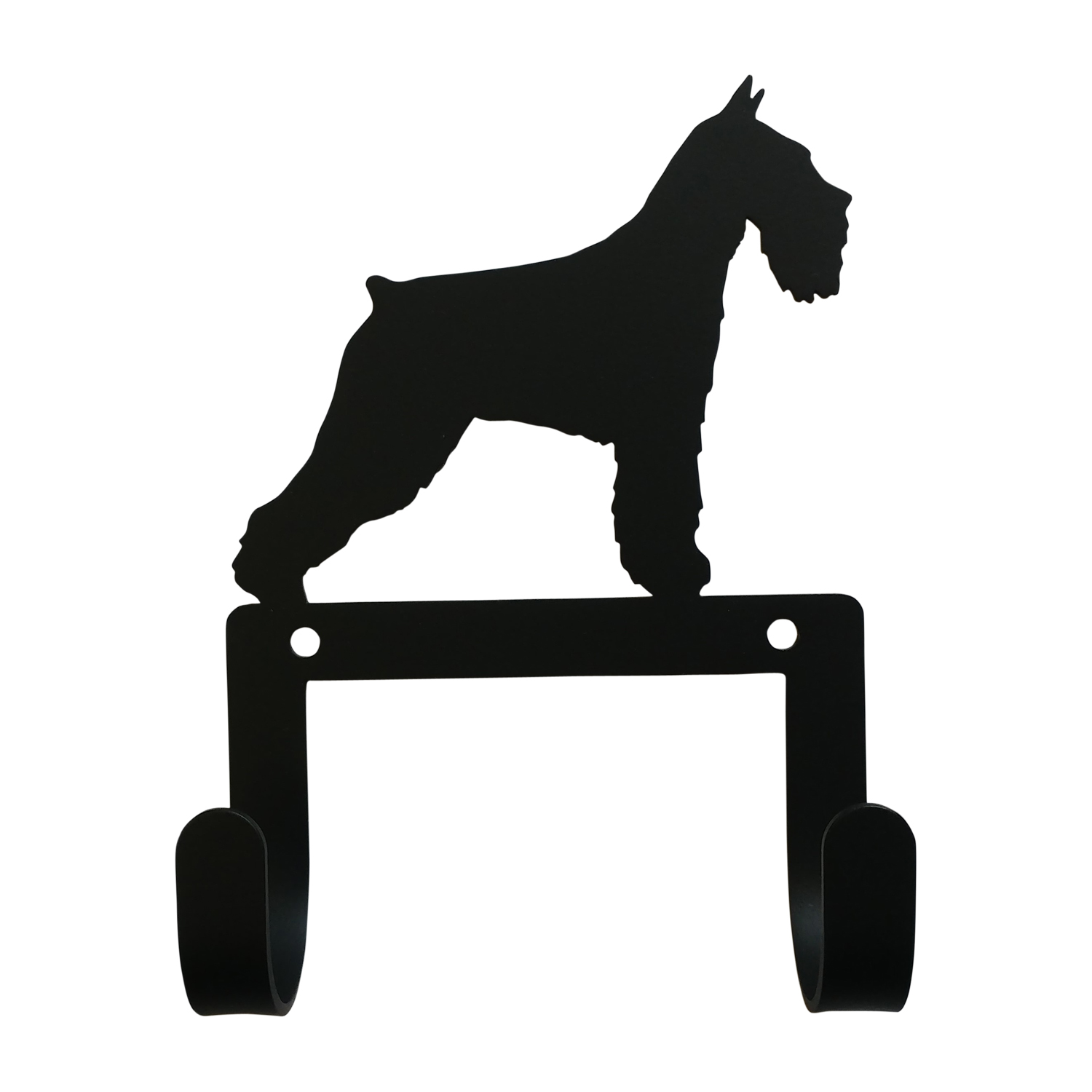 NEW - Schnauzer - Leash and Collar Wall Hook
