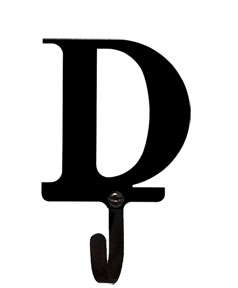 Letter D - Wall Hook Small