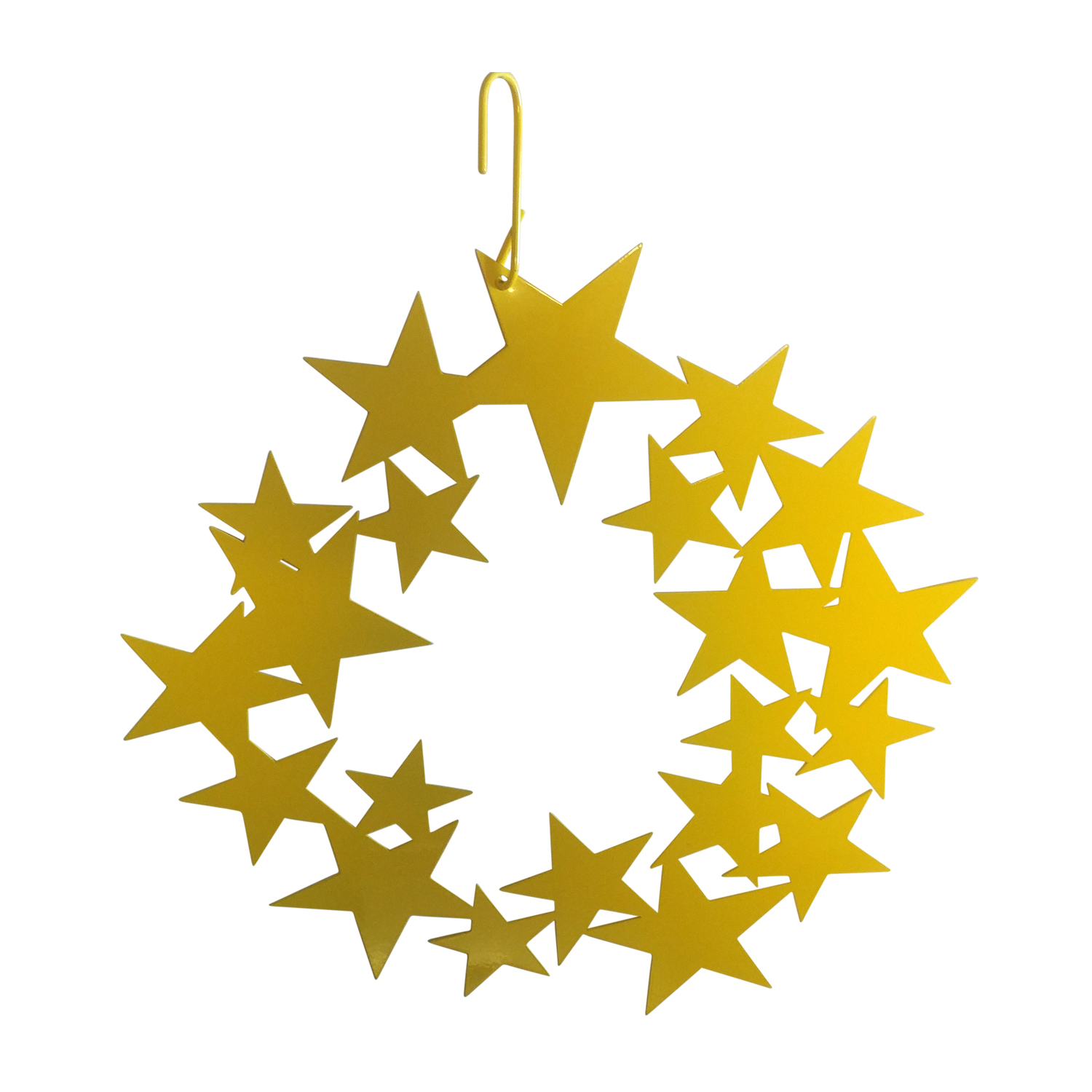 Star Wreath - Decorative Hanging Silhouette - NEW Yellow Color