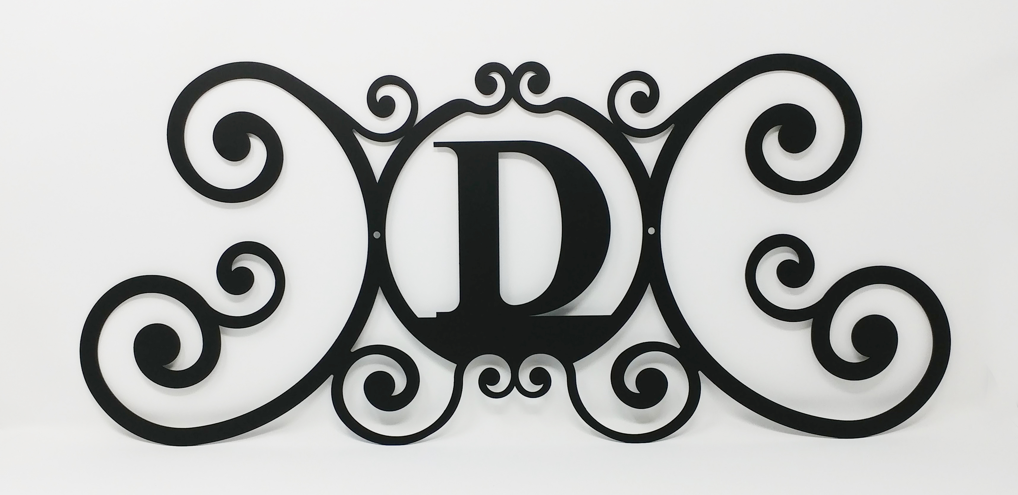 Wrought Iron Letters For Signs Village Wrought Iron House Plaque Letter D