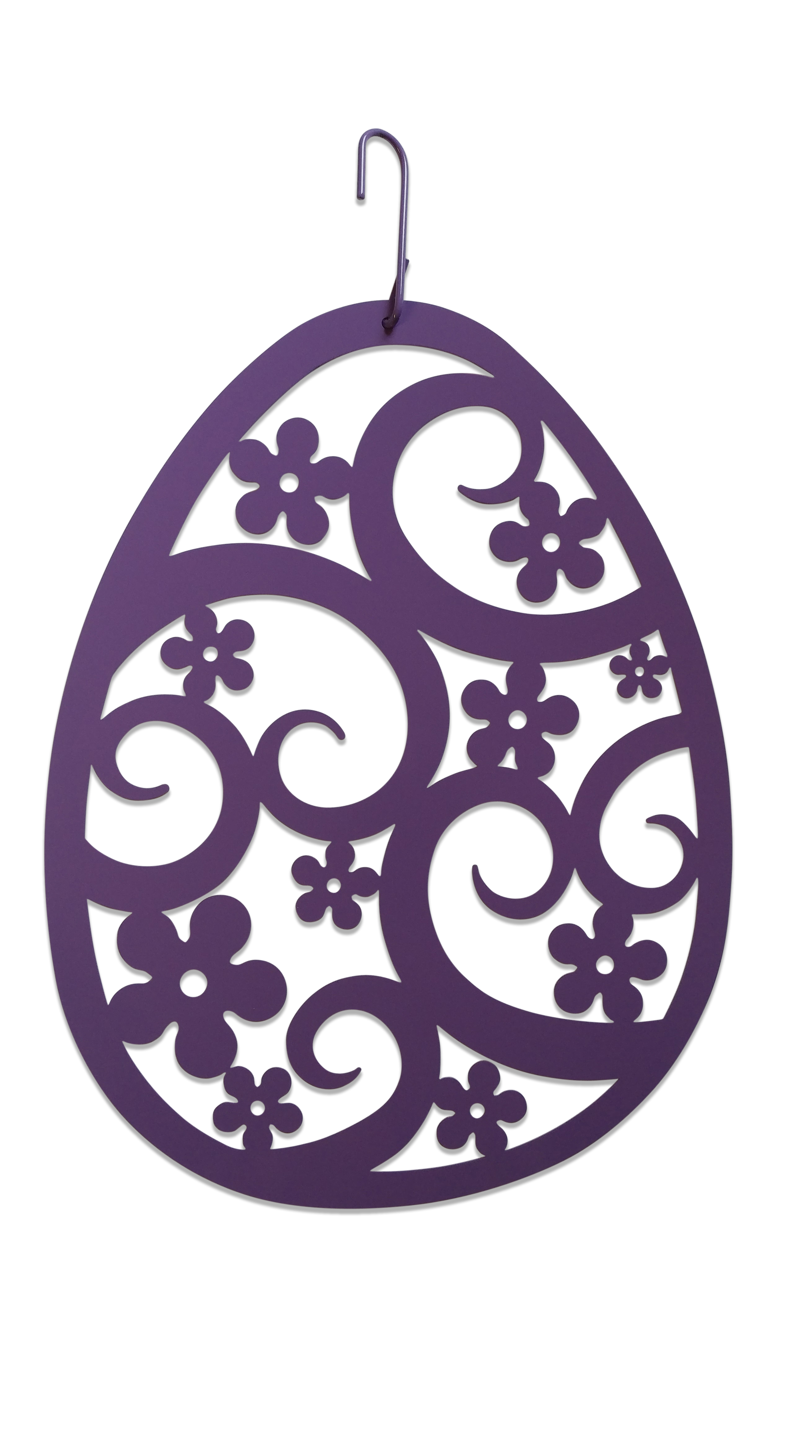 Easter Egg - Decorative Hanging Silhouette-New Purple Color