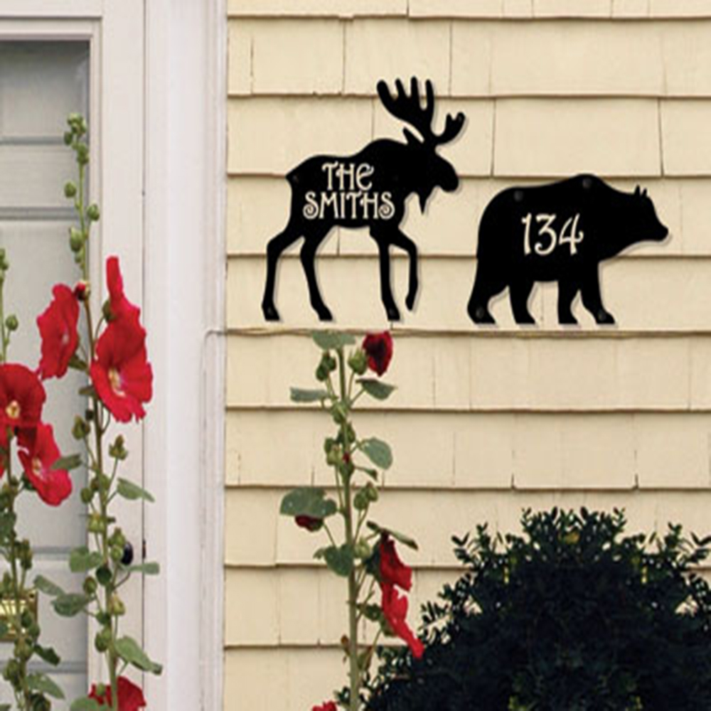 Bear - Product is Made When Ordered - Customized House Plaque