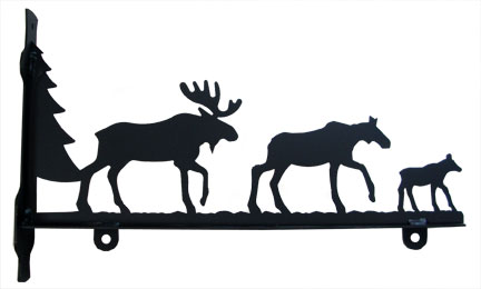Moose Family - Sign Bracket 36 Inch
