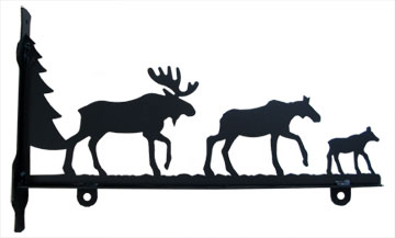 Moose Family - Sign Bracket 24 Inch