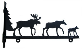 Moose Family - Sign Bracket 18 Inch