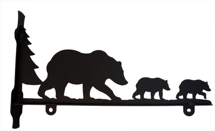 Bear Family - Sign Bracket 36 Inch