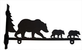 Bear Family - Sign Bracket 18 Inch